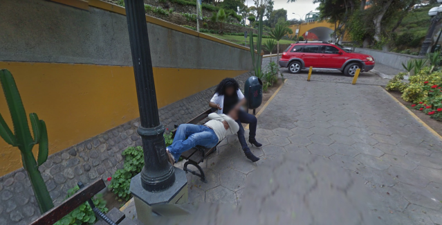 A man reportedly divorced his wife after seeing her cheating on Google Street View. (Photo: Google Maps)