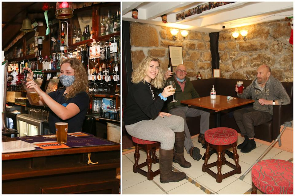 Customers can still enjoy their pubs in the Isles of Scilly – the last area in Tier 1. (Chris Hall/SWNS)