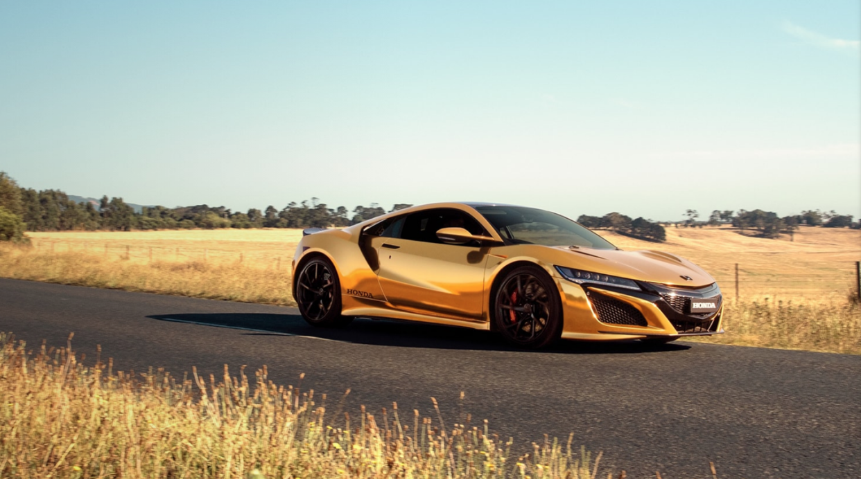 Honda Covers the Civic Type R and NSX in Gold for Australian