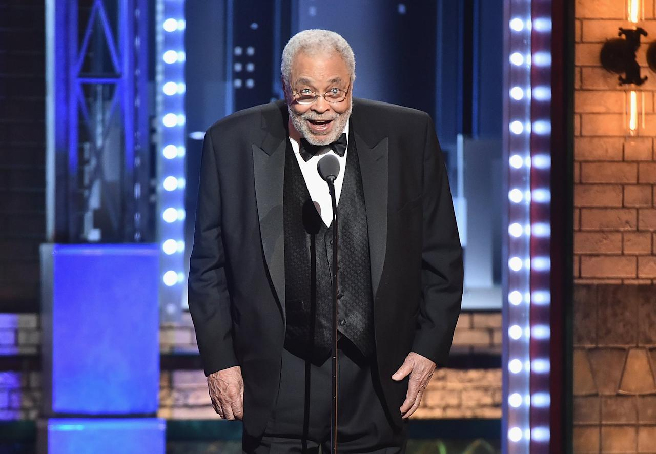 """<p>No one has as unmistakable a voice as James Earl Jones, whose booming tones have voiced fathers both noble (Mufasa) and not so much (Darth Vader). His work in recent years has mostly been guest spots and ongoing voice work, but he was recognized by the Screen Actors Guild (in 2008) and the Academy Awards (in 2011) for lifetime achievement. He's <a href=""""http://www.popsugar.com/entertainment/photo-gallery/43467880/image/43467897/James-Earl-Jones-Mufasa"""" class=""""ga-track"""" data-ga-category=""""Related"""" data-ga-label=""""http://www.popsugar.com/entertainment/photo-gallery/43467880/image/43467897/James-Earl-Jones-Mufasa"""" data-ga-action=""""In-Line Links"""">returning to the role of Mufasa</a>, once again voicing the noble king of the lions in <a href=""""https://www.popsugar.com/entertainment/Lion-King-Reboot-Trailer-45518735"""" class=""""ga-track"""" data-ga-category=""""Related"""" data-ga-label=""""http://www.popsugar.com/entertainment/Lion-King-Reboot-Trailer-45518735"""" data-ga-action=""""In-Line Links"""">the 2019 remake</a> of <strong>The Lion King</strong>.</p>"""