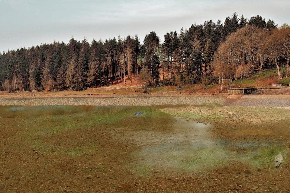 Artistic impression of how Langsett reservoir could look in 2071 (Yorkshire Water/PA)