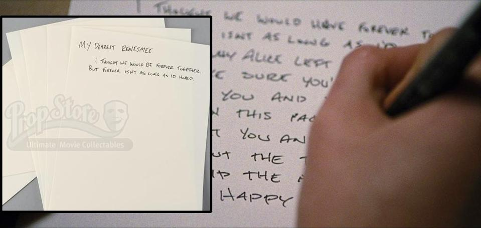 <p>Bella's letter to Renesmee and stationary from 'Breaking Dawn – Part 2.' (Photo: Prop Store/Summit) </p>