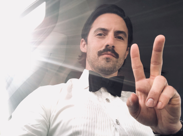 "<p>""On my way,"" the <i>This Is Us</i> star captioned a shot of himself looking cool as a cucumber. (Photo: <a href=""https://twitter.com/MiloVentimiglia/status/950120629532950529"" rel=""nofollow noopener"" target=""_blank"" data-ylk=""slk:Milo Ventimiglia via Twitter"" class=""link rapid-noclick-resp"">Milo Ventimiglia via Twitter</a>) </p>"