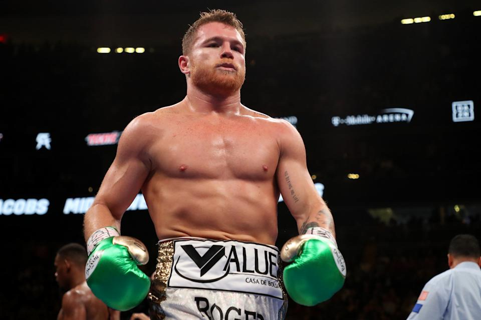 Could drama over the IBF title eventually result in the completion of the Canelo-Golovkin trilogy? (Getty)