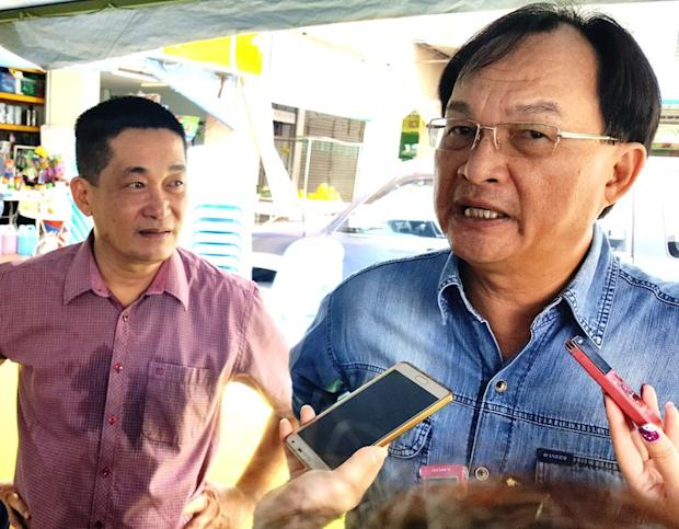 Sarawak PKR chairman Baru Bian (right) said the PKR Sarawak chapter has shortlisted its list of potential candidates for the coming 14th general election. — Picture by Sulok Tawie