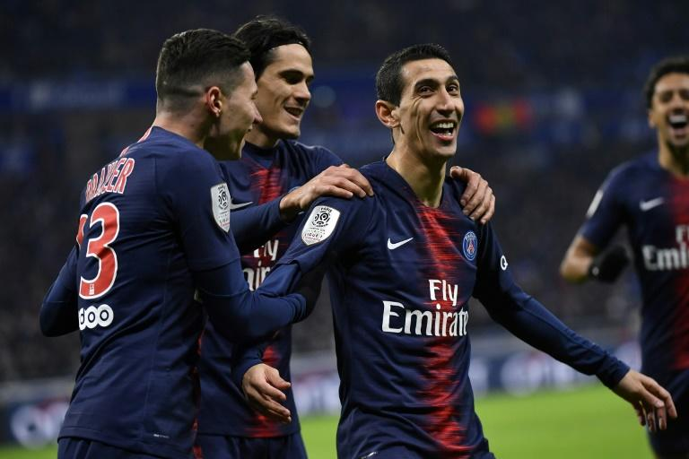 Angel Di Maria (R) flopped at Manchester United but is enjoying his football under Thomas Tuchel at Paris Saint-Germain