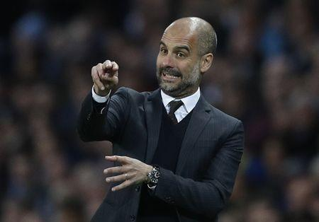 Britain Soccer Football - Manchester City v Manchester United - Premier League - Etihad Stadium - 27/4/17 Manchester City manager Pep Guardiola Reuters / Darren Staples Livepic