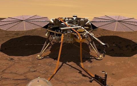 """Nasais countingdownto the long-awaited launch of its latest Mars lander, InSight, designed to perch on the surface of the Red Planet and listen for """"Marsquakes."""" The spacecraft is scheduled to blast off atop an Atlas V rocket at 12:05pm (UK time) from Vandenberg Air Force Base in California. Foggy weather was the only technical concern ahead of the launch, and Nasa safety officers said on Friday that the usual visibility constraints might be waived so the launch could proceed. The £734mproject aims to expand human knowledge of conditions on Mars, inform efforts to send human explorers there, and reveal how rocky planets like the Earth formed billions of years ago. If all goes as planned, the lander should settle on the Red Planet on November 26. Its name, InSight, is short for Interior Exploration using Seismic Investigations, Geodesy and Heat Transport. Nasa chief scientist Jim Green said experts already know that Mars has quakes, avalanches and meteor strikes. The Mars InSight probe in artist's rendition operating on the surface of Mars Credit: Reuters """"But how quake-prone is Mars? That is fundamental information that we need to know as humans that explore Mars,"""" Green said. The key instrument on board is a seismometer, called the Seismic Experiment for Interior Structure, made by the French Space Agency. After the lander settles on the Martian surface, a robotic arm is supposed to emerge and place the seismometer directly on the ground. The second main instrument is a self-hammering probe that will monitor the flow of heat in the planet's subsurface. Called the Heat Flow and Physical Properties Package, it was made by the German Space Agency with the participation of the Polish Space Agency. The probe will bore down 10 to 16 feet (three to five metres) below the surface, Nasa said, 15 times deeper than any previous Mars mission. Understanding the temperature on Mars is crucial to Nasa's efforts to send people there by the 2030s, and how much a human habitat might"""
