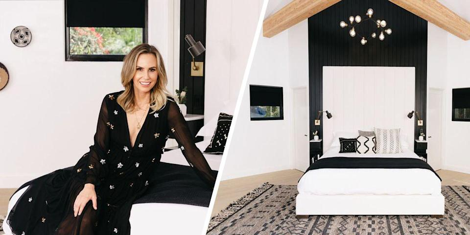 "<p>Look to <em>Entertainment Tonight</em> host Keltie Knight for the right way to design a <a href=""https://www.elledecor.com/celebrity-style/celebrity-homes/a24225328/keltie-knight-bedroom-remodel/"" rel=""nofollow noopener"" target=""_blank"" data-ylk=""slk:master bedroom"" class=""link rapid-noclick-resp"">master bedroom</a>. The self-proclaimed design buff collaborated with <a href=""https://havenly.com/"" rel=""nofollow noopener"" target=""_blank"" data-ylk=""slk:Havenly"" class=""link rapid-noclick-resp"">Havenly</a> designer Kylee Trunck to craft an eclectic black and white bedroom that exudes a mix of East Coast chicness and California cool. From its high ceilings and exposed beams to its show-stopping bed, the TV personality's bedroom is truly as inviting as it gets. </p>"