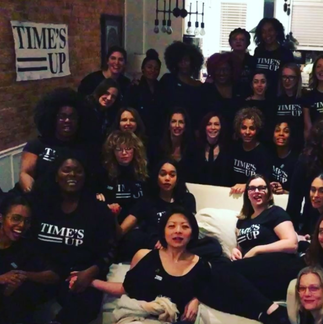 "<p>""#TIMESUP solidarity party in full effect!"" reported Amber Tamblyn. </p>"