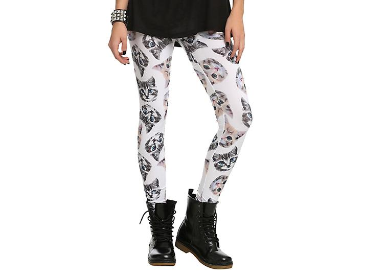 "<p>The next-best thing to kittens, is stretchy workout pants emblazoned with kitten heads. (<a href=""http://www.hottopic.com/hottopic/Kitten+Head+Leggings-10112125.jsp"">$6.98 on Hot Topic</a>)</p>"