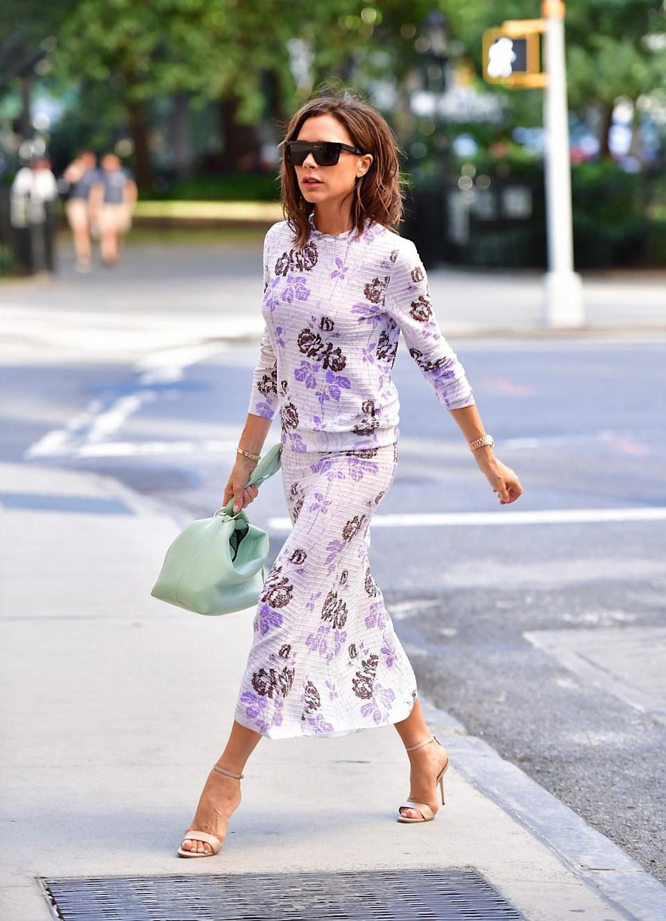 <p>Yes, VB can even rocked a floral co-ord.<em> [Photo: Getty]</em> </p>