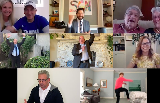 'The Office' Cast Re-creates Jim and Pam's Iconic Wedding Dance for a Couple's Virtual Ceremony (Video)