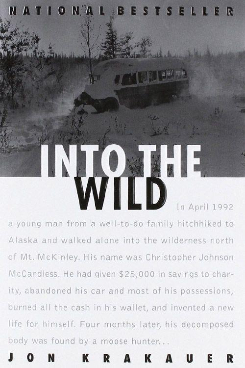 """<p><strong><em>Into the Wild</em> by Jon Krakauer</strong></p><p>$11.08 <a class=""""link rapid-noclick-resp"""" href=""""https://www.amazon.com/Into-Wild-Jon-Krakauer/dp/0385486804/ref=tmm_pap_swatch_0?tag=syn-yahoo-20&ascsubtag=%5Bartid%7C10063.g.34149860%5Bsrc%7Cyahoo-us"""" rel=""""nofollow noopener"""" target=""""_blank"""" data-ylk=""""slk:BUY NOW"""">BUY NOW</a> </p><p>After giving away his college fund to charity and burning the remaining cash he had in his wallet, Christopher Johnson McCandless set out in the Alaskan wilderness to invent a new life for himself. His body was found by a moose-hunter four months after his departure. Author Jon Krakauer adapted <em>Into the Wild</em> from a 9,000-word article written on McCandless' life. The story became a national best-seller, and it was turned into a movie directed by Sean Penn with Emile Hirsch.<br></p>"""