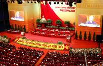 The 13th national congress of the ruling communist party of Vietnam in Hanoi