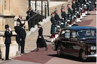 <p>Sophie, Countess of Wessex, wife of Prince Edward, arrived at the funeral in St George's Chapel. </p>