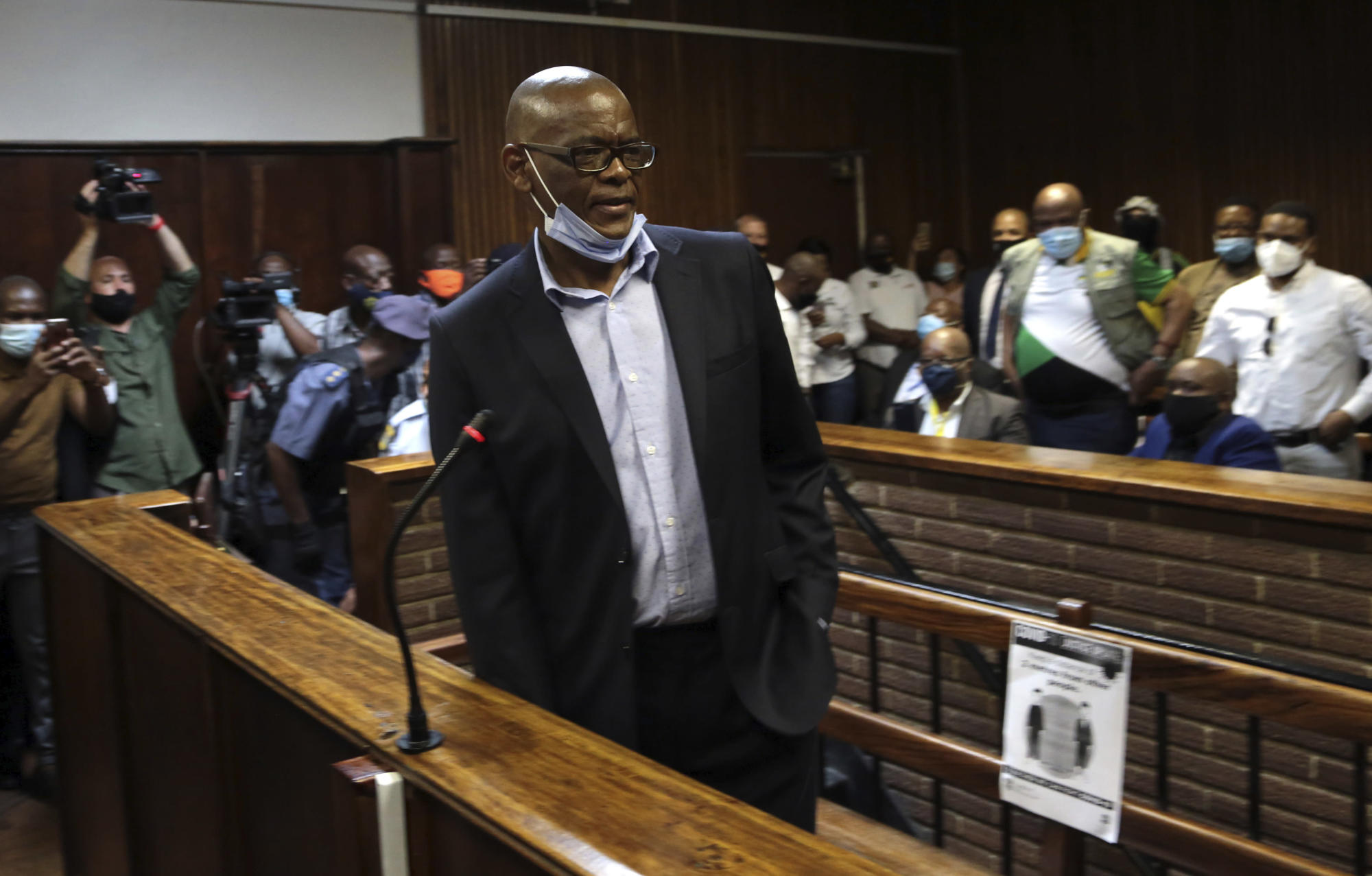 South African ruling party official charged with corruption