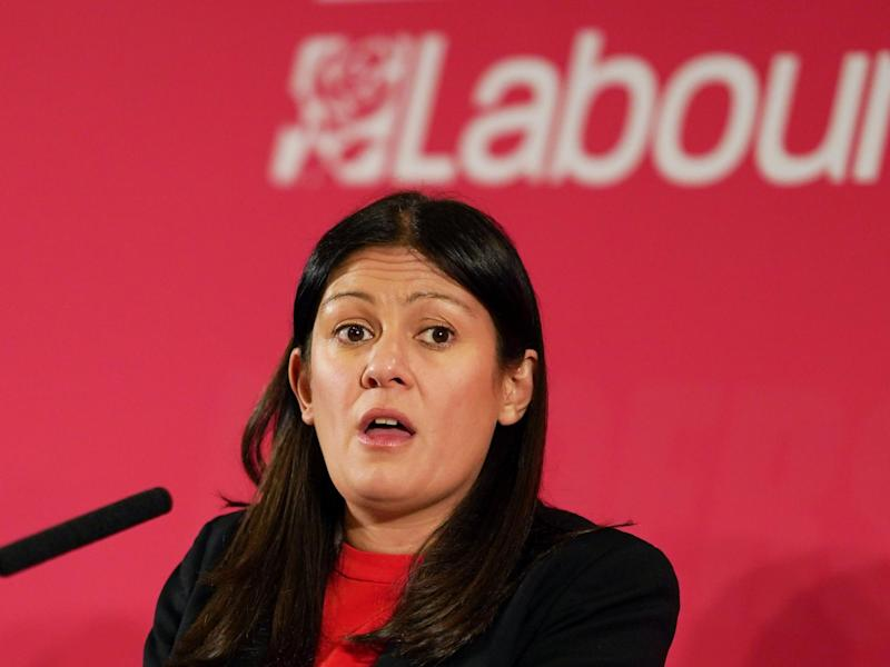 Lisa Nandy speaking to the audience at the Labour Party Leadership hustings in Durham on 23 February, 2020: Getty Images