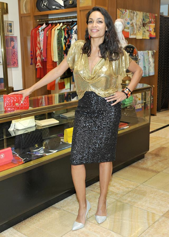 <p>Dawson dazzled at the first anniversary of Beverly Hills boutique What Goes Around Comes Around. (Photo: Getty Images) </p>