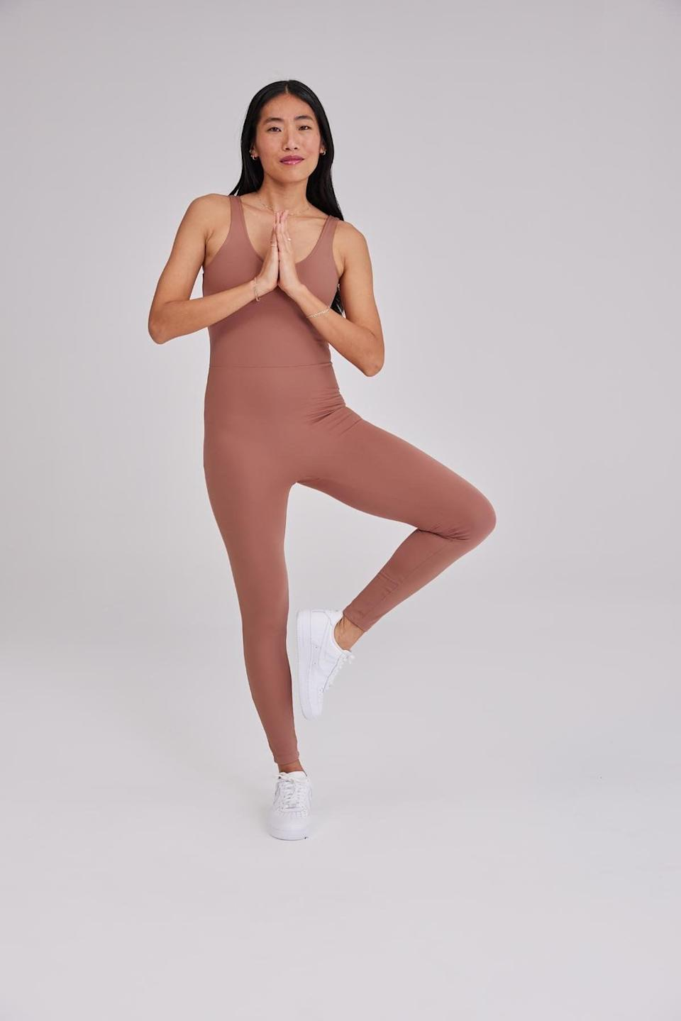 <p>If you're in the mood to flow, go with this cute <span>Girlfriend Collective Scoop Unitard</span> ($88).</p>