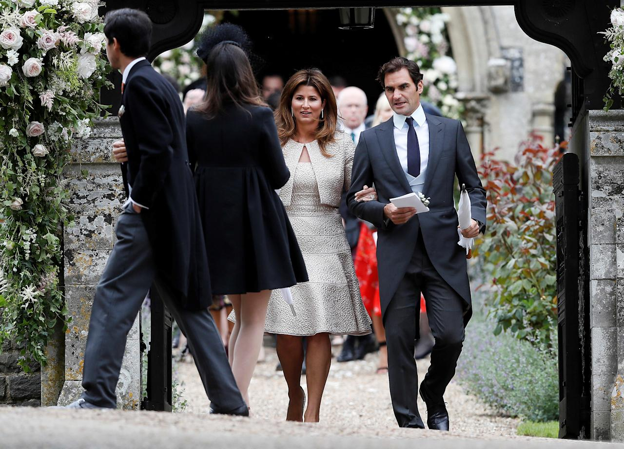 Roger Federer and his wife Mirka leave after the wedding of Pippa Middleton and James Matthews at St Mark's Church in Englefield, west of London, on May 20, 2017.    REUTERS/Kirsty Wigglesworth/Pool
