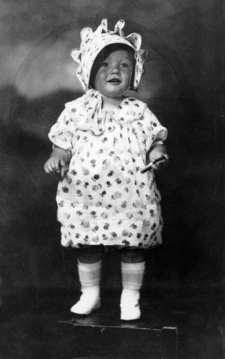 <p>Norma posed here at two years old. It was during this time she was living with her first set of foster parents. </p>