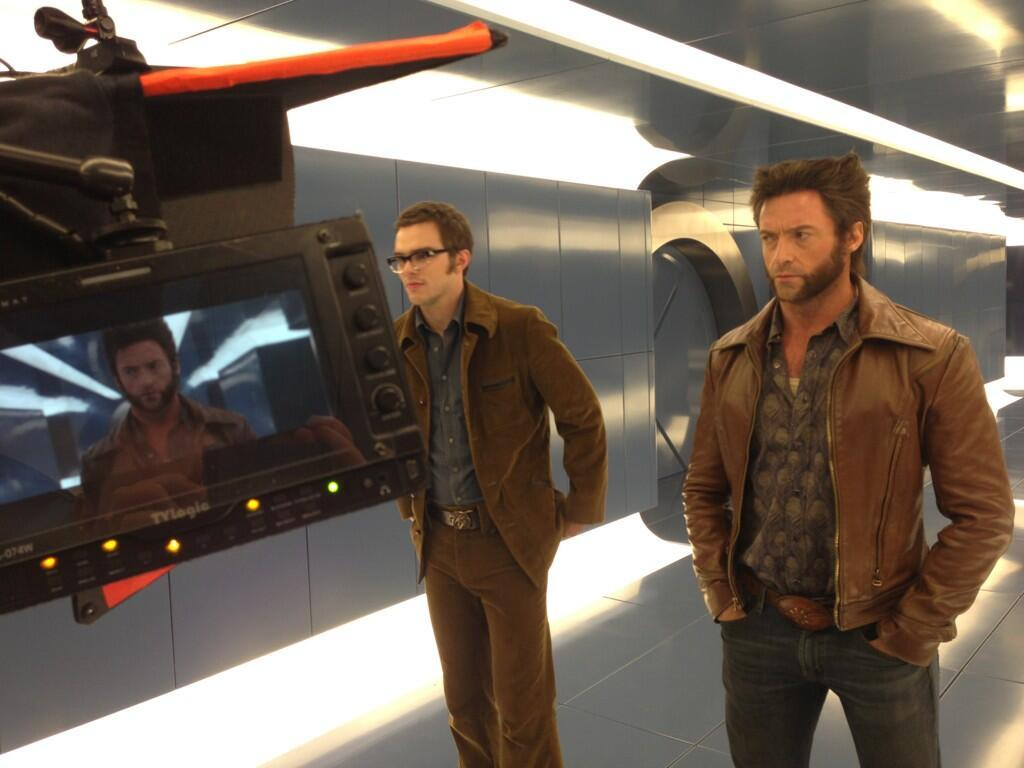 "Hugh Jackman on the set of ""X-Men: Days of Future Past"""