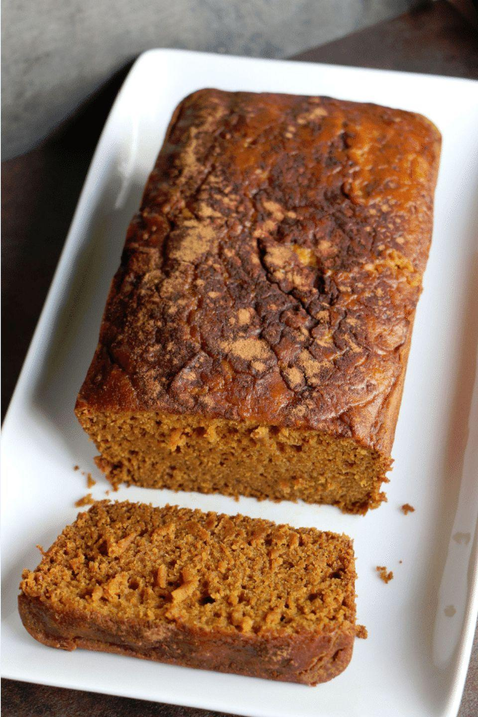 """<p>Throw your ingredients into your slow cooker, sit back, and wait for the magic to happen. </p><p><strong>Get the recipe at <a href=""""http://www.tammileetips.com/2014/04/crock-pot-pumpkin-bread-recipe/"""" rel=""""nofollow noopener"""" target=""""_blank"""" data-ylk=""""slk:Tammilee Tips"""" class=""""link rapid-noclick-resp"""">Tammilee Tips</a>. </strong></p>"""