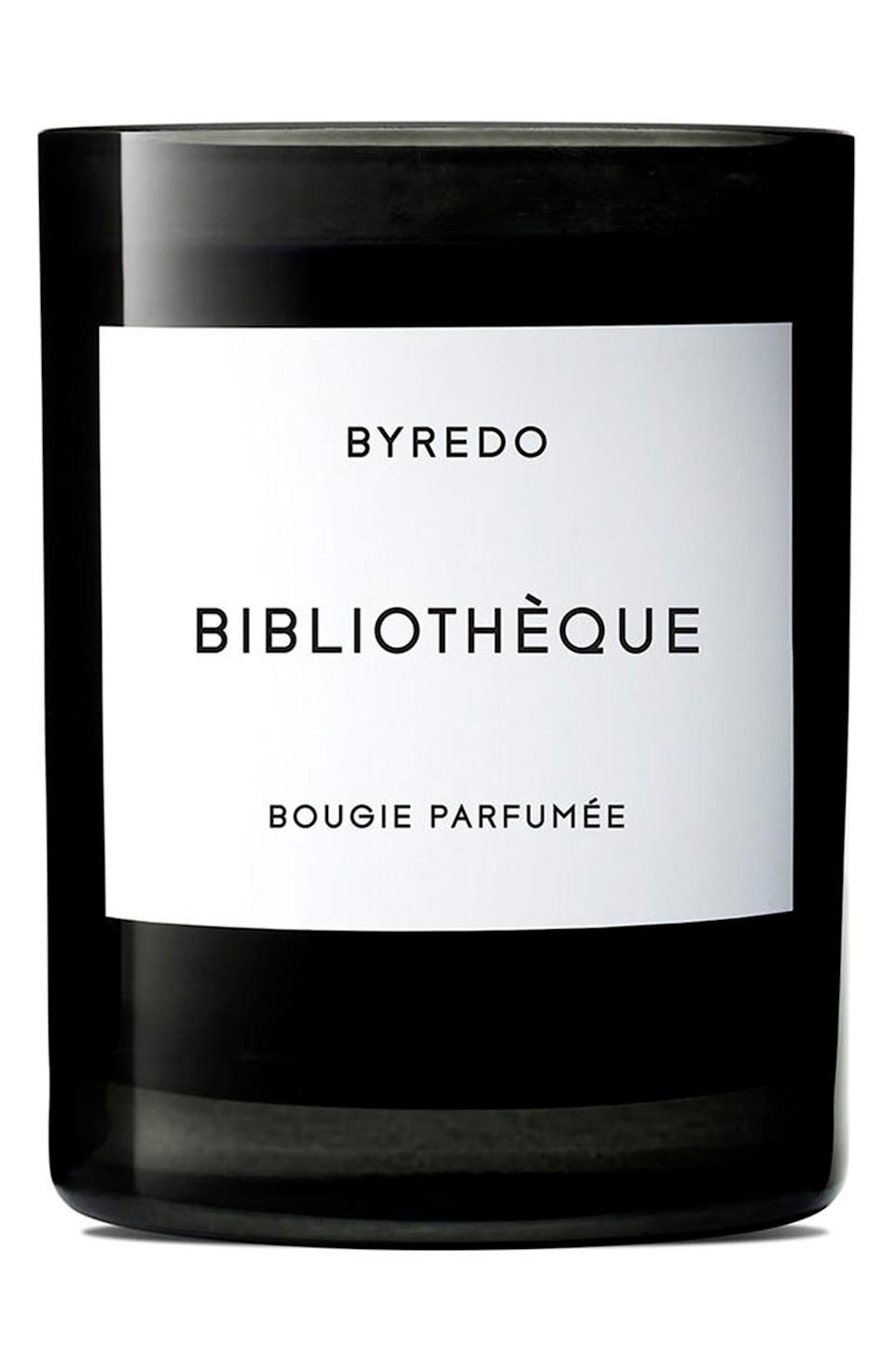 <p>The <span>Byredo Bibliotheque Candle</span> ($85) is popular for a reason - take one whiff of its woody and leathery scent and you're instantly transported to a warm and comforting library.</p>