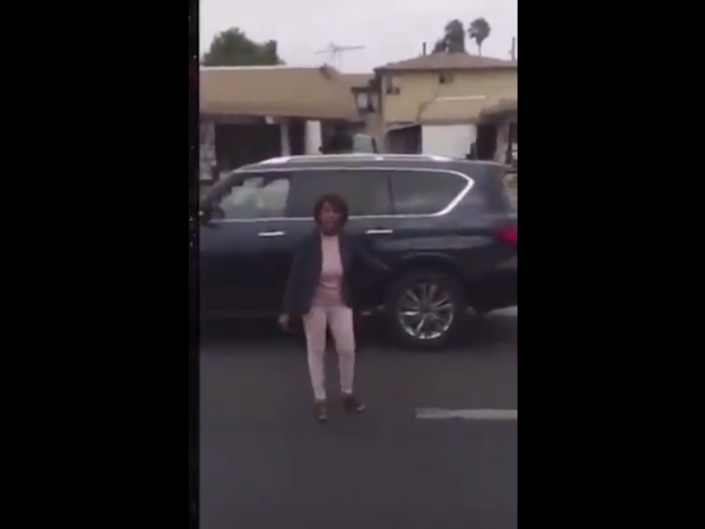 Congresswoman Maxine Waters was filmed intervening in a police traffic stop: Xaiver Brown / Twitter