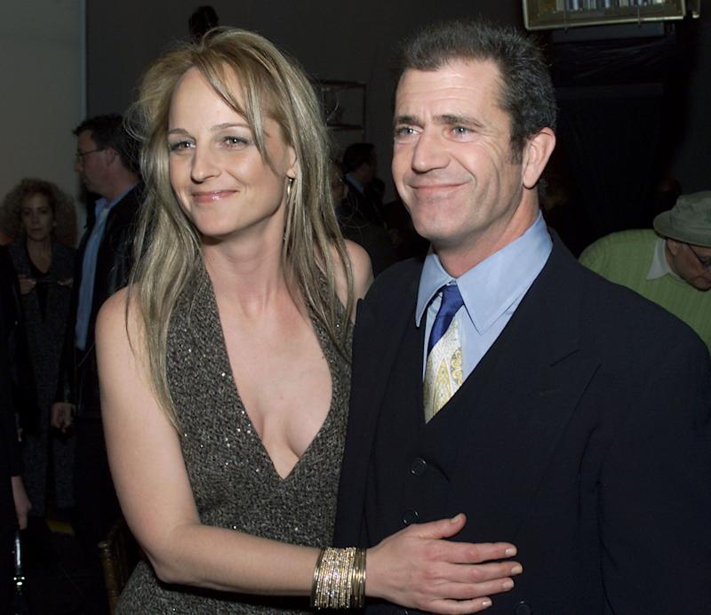 "Helen Hunt and Mel Gibson at the ""What Women Want"" premiere.  (Photo: Kevin Winter via Getty Images)"