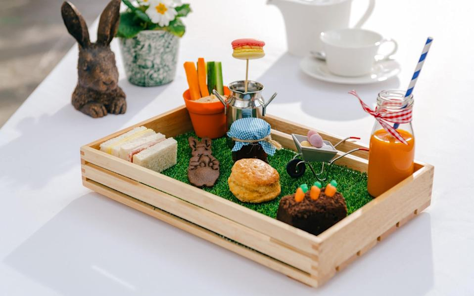 Beatrix Potter Children's Afternoon Tea, at Fowey Hall, Cornwall - Luxury Family Hotels