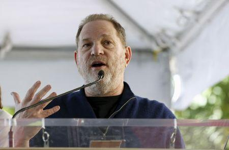 Producer Weinstein speaks at the ceremony for the unveiling of the star for Italian composer Ennio Morricone on the Hollywood Walk of Fame in Hollywood