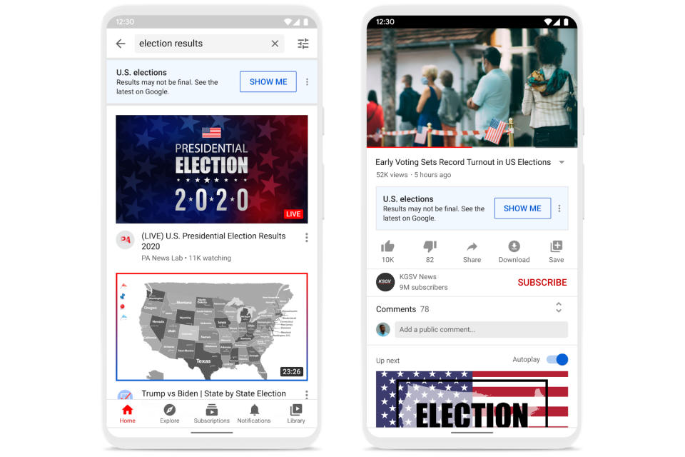 Youtube Will Warn Users That Election Day Results May Not Be Final