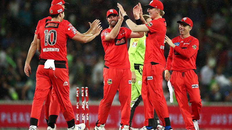 The Melbourne Renegades, pictured here celebrating their first win of the Big Bash season.