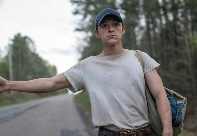 Tom Holland en 'El diablo a todas horas' (Glen Wilson/Netflix © 2020)