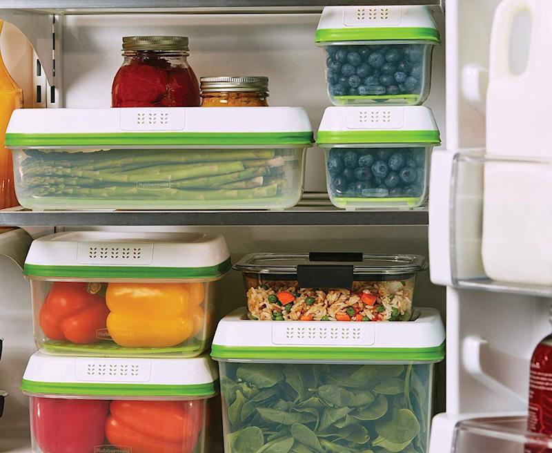 Rubbermaid FreshWorks Produce Saver Food Storage Container give your crisper drawer a break. (Photo: Amazon)