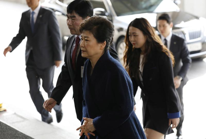 South Korea's Ousted Leader Questioned Over Corruption Scandal
