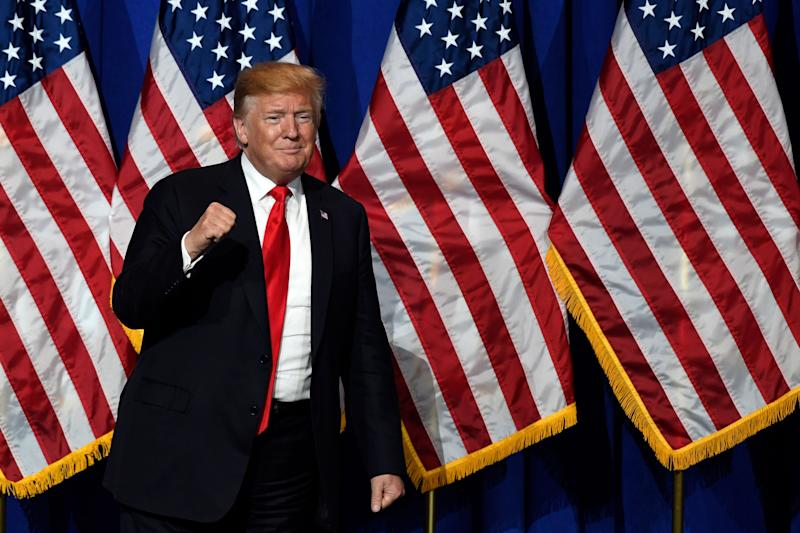 El presidente de Estados Unidos, Donald Trump, habla en la National Association of REALTORS Legislative Meetings and Trade Expo, el viernes 17 de mayo de 2019, en Washington. (AP Photo/Susan Walsh)