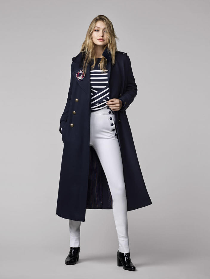 """Gigi Hadid models a look from the """"Tommy X Gigi"""" collection."""
