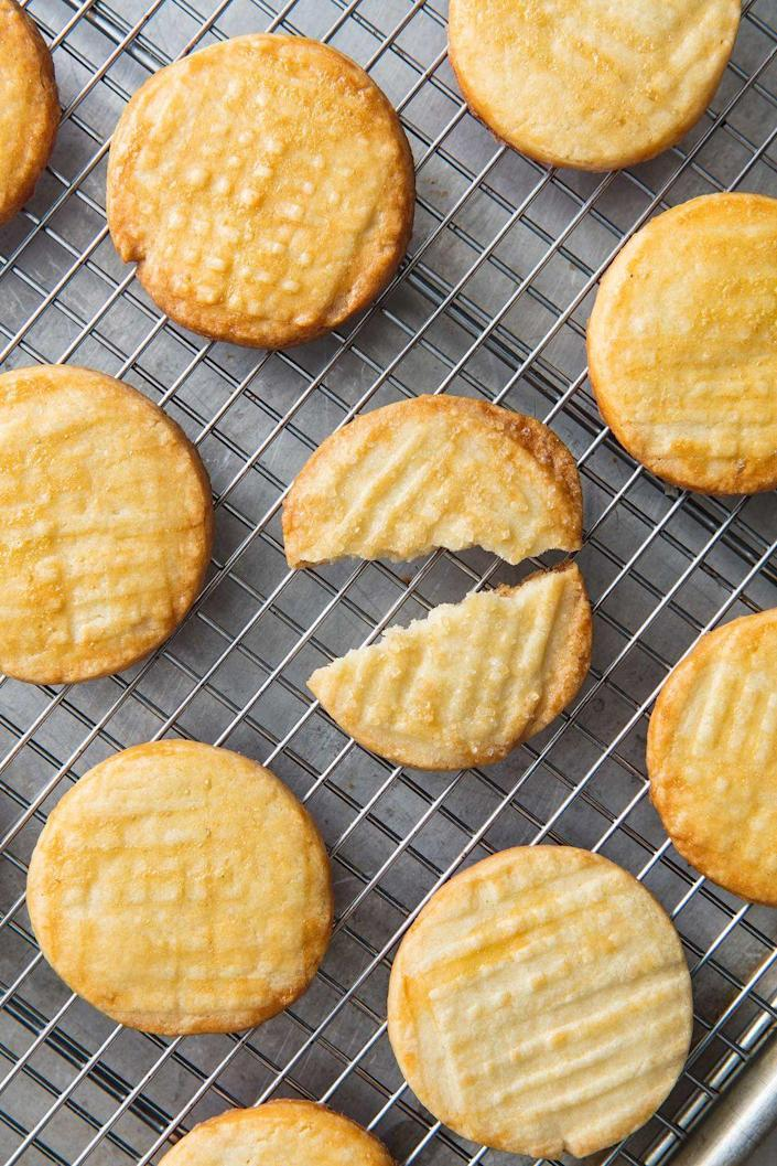 """<p>The perfect cookie.</p><p>Get the recipe from <a href=""""https://www.delish.com/cooking/recipe-ideas/a20138735/butter-cookies-recipe/"""" rel=""""nofollow noopener"""" target=""""_blank"""" data-ylk=""""slk:Delish."""" class=""""link rapid-noclick-resp"""">Delish. </a> </p>"""