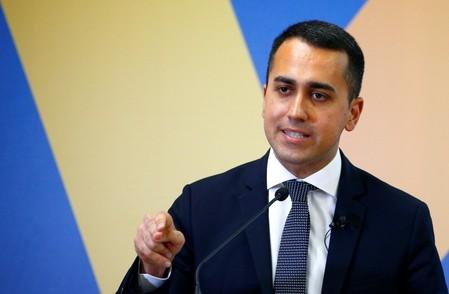FILE PHOTO: 5 Star leader and Deputy PM Di Maio presents EU election program