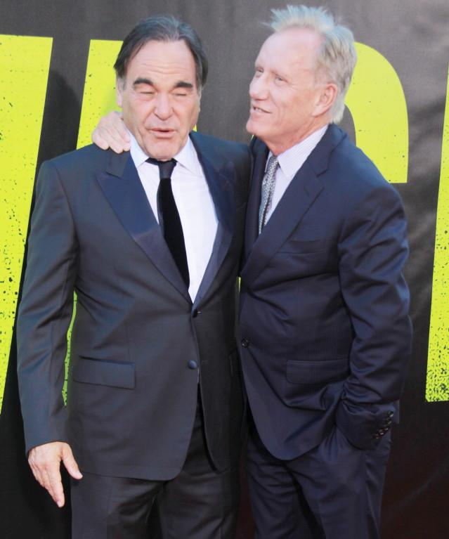James Woods and Oliver Stone attending the 'Savages' premiere at Regency Village Theatre