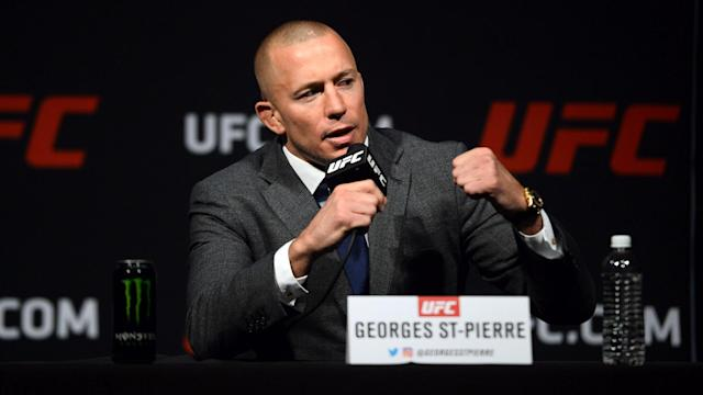 Georges St-Pierre will make his long-awaited return to the Octagon against Michael Bisping on Saturday. (Getty)