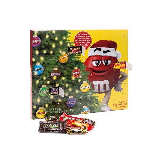 """<p><strong>Mars Inc</strong></p><p>candywarehouse.com</p><p><strong>$15.60</strong></p><p><a href=""""https://www.candywarehouse.com/mars-candy-chocolate-advent-calendar"""" rel=""""nofollow noopener"""" target=""""_blank"""" data-ylk=""""slk:Shop Now"""" class=""""link rapid-noclick-resp"""">Shop Now</a></p><p>All your favorite Halloween candy...in an advent calendar...for Christmas.</p>"""