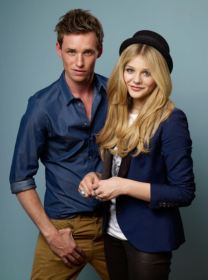 "<a href=""http://movies.yahoo.com/movie/contributor/1809675503"">Eddie Redmayne</a> and <a href=""http://movies.yahoo.com/movie/contributor/1808549150"">Chloe Moretz</a> pose for a portrait during 2011 Toronto Film Festival."
