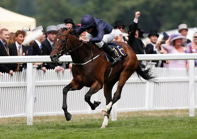 Horse Racing - Royal Ascot - Ascot Racecourse, Ascot, Britain - June 24, 2017 September ridden by Ryan Moore wins the 14:30 Chesham Stakes Action Images via Reuters/Matthew Childs