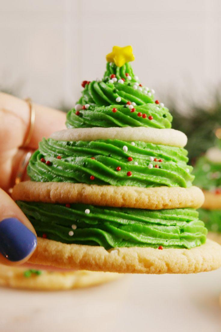 """<p>Your own personal and edible Christmas tree.</p><p>Get the recipe from <a href=""""https://www.delish.com/cooking/recipe-ideas/recipes/a56870/sugar-cookie-trees-recipe/"""" rel=""""nofollow noopener"""" target=""""_blank"""" data-ylk=""""slk:Delish"""" class=""""link rapid-noclick-resp"""">Delish</a>. </p>"""