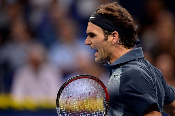 Roger Federer beat Grigor Dimitrov at the Swiss Indoors ATP tournament in Basel.