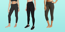 """<p><a href=""""http://www.goodhousekeeping.com/clothing/g32006182/best-loungewear-brands/"""" rel=""""nofollow noopener"""" target=""""_blank"""" data-ylk=""""slk:Loungewear"""" class=""""link rapid-noclick-resp"""">Loungewear</a> and <a href=""""http://www.goodhousekeeping.com/clothing/g31989983/best-athleisure-wear-brands/"""" rel=""""nofollow noopener"""" target=""""_blank"""" data-ylk=""""slk:athleisure clothing"""" class=""""link rapid-noclick-resp"""">athleisure clothing</a> are staples in most peoples' wardrobe by now, but leggings to work out in are a little different than your <a href=""""http://www.goodhousekeeping.com/clothing/g27206929/best-black-leggings/"""" rel=""""nofollow noopener"""" target=""""_blank"""" data-ylk=""""slk:everyday leggings"""" class=""""link rapid-noclick-resp"""">everyday leggings</a>. Whether you're wearing them for low-impact workouts like yoga, high-intensity exercise like running or cycling, or weight-bearing exercises, your workout leggings should be comfortable, moisture-wicking, breathable, and durable. They should also fit well, stay in place, and look good while you're wearing them. </p><p>It's not an easy to task to achieve all of these, but the <a href=""""https://www.goodhousekeeping.com/institute/about-the-institute/a19748212/good-housekeeping-institute-product-reviews/"""" rel=""""nofollow noopener"""" target=""""_blank"""" data-ylk=""""slk:Good Housekeeping Institute"""" class=""""link rapid-noclick-resp"""">Good Housekeeping Institute</a> Textiles Lab set out to find the best performance leggings to stand up to any workout. We reviewed dozens of workout leggings, evaluating them for construction, stretch recovery, moisture management, opacity, pilling resistance, colorfastness, and washability. Next, over 100 consumer testers wore them during workouts and rated the leggings for fit, breathability, comfort, appearance, and more. The picks ahead are winners from our test along with newer styles from brands we love or ones with unique features and rave reviews from users. </p><h2 class=""""body-h2"""">How to find the best workout leggings</h"""